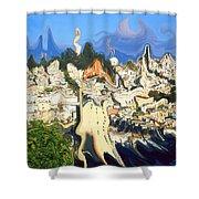 San Francisco 1906 - Modern Art Shower Curtain