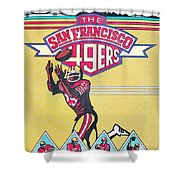 San Francisco 49ers Vintage Program Shower Curtain