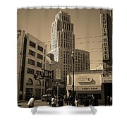 San Francisco Architecture, 2007 Sepia Shower Curtain