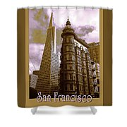 San Francisco Architecure Poster Shower Curtain