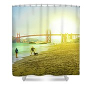 San Francisco Baker Beach Shower Curtain