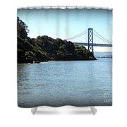 San Francisco Bay Bridge Shower Curtain