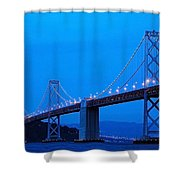 San Francisco Bay Bridge Shower Curtain