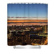 San Francisco Bay Early Morning Glow  Shower Curtain