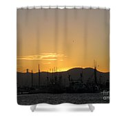 San Francisco Bay Sunset Shower Curtain