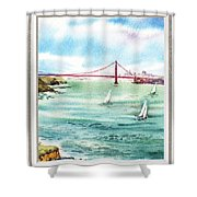 San Francisco Bay View Window Shower Curtain
