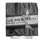 San Francisco Blue Mermaid Bw Shower Curtain