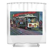 San Francisco Cable Car Shower Curtain