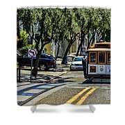 San Francisco, Cable Cars -1 Shower Curtain