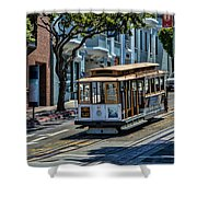 San Francisco, Cable Cars -2 Shower Curtain