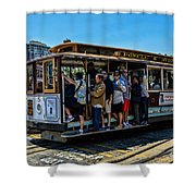 San Francisco, Cable Cars -3 Shower Curtain