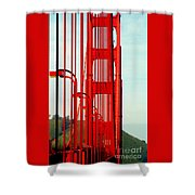 San Francisco Golden Gate Bridge Symphony In California Shower Curtain