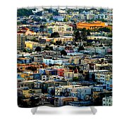 San Francisco California Scenic  Rooftop Landscape Shower Curtain