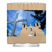 San Francisco De Asis - Rancho De Taos Shower Curtain