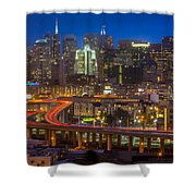 San Francisco From Potrero Hill Shower Curtain by Inge Johnsson