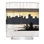 San Francisco - From Tamalpais East Shower Curtain