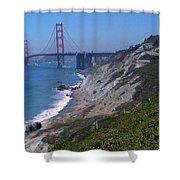 San Francisco - Golden Gate Bridge Shower Curtain