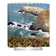 Marin Headlands Bunker Shower Curtain