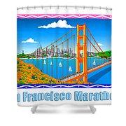 San Francisco Marathon Panorama Shower Curtain