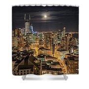 San Francisco Moon Shower Curtain