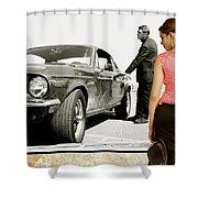 San Francisco Museum Of Art, Frank Bullitt, Steve Mcqueen, Ford Mustang Gt 390, Fastback Shower Curtain