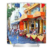 San Francisco North Beach Outdoor Dining Shower Curtain