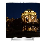 San Francisco Palace Of Fine Arts At Night Shower Curtain
