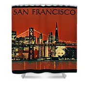 San Francisco Poster Shower Curtain