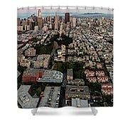 San Francisco Skyline And Coit Towersan Francisco Skyline And Coit Tower Shower Curtain