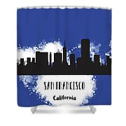 San Francisco Skyline Silhouette Shower Curtain