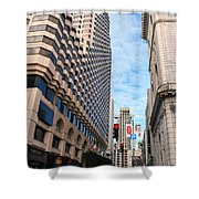San Francisco Street View - Parc 55  Shower Curtain