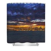 San Francisco Sunset Shower Curtain