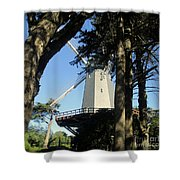 San Francisco Windmills Shower Curtain