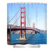 San Francisco's Golden Gate Bridge Shower Curtain