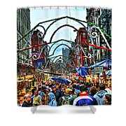 San Gennaro Festival Shower Curtain