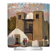 San Geronimo De Taos Spanish Mission Shower Curtain