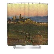 San Gimignano, 1898 Shower Curtain
