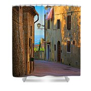 San Gimignano Alley Shower Curtain