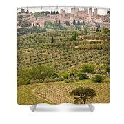 San Gimignano II Shower Curtain