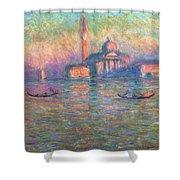 San Giorgio Maggiore Venice Shower Curtain by Claude Monet
