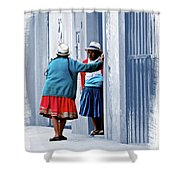San Joaquin Gossip Shower Curtain