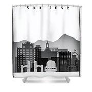 San Jose Graphic Skyline Shower Curtain