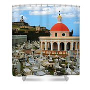 San Juan Graveyard Shower Curtain