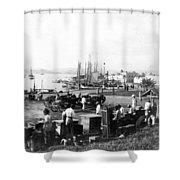 San Juan Harbor - Puerto Rico - C 1900 Shower Curtain