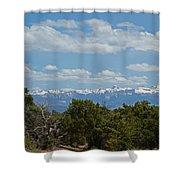 San Juan Mountains Shower Curtain