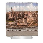 San Juan Puerto Rico Fort  Shower Curtain