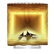 San Juan Silhouette Shower Curtain
