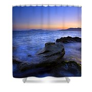 San Juan Sunset Shower Curtain by Mike  Dawson