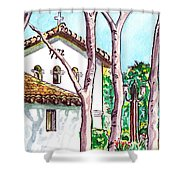 San Louis Obispo Mission Shower Curtain