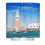 San Marco Square Waterfront Shower Curtain